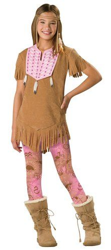perfect costume for teens - Indian / Native American theme with fashion leggings