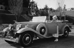 Jean Harlow with her 1932 Packard C