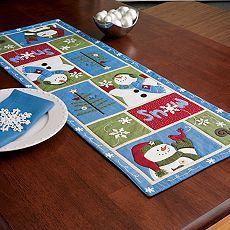 Snowman Patchwork Table Runner