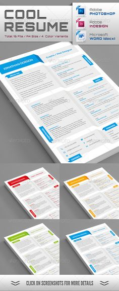 "Cool Resume - Resumes Stationery.  For more great resume ideas search Aaron Sheppard and look at my ""? - Design - Resumes"" board. Creative Resume Design, Resume Style, Resume Design, Curriculum Vitae, CV, Resume Template, Resumes, Resume Format."