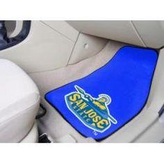 "San Jose State Spartans 2-Piece Carpeted Car Mats 18""x27"""