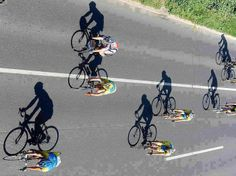 bicycl, shadow photography
