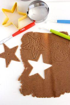 Gingerbread playdough, so fun!
