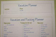 vacation planning