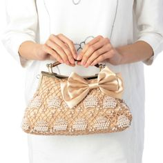 pearl bag, crochet pearl, croquet bag, handmad bag