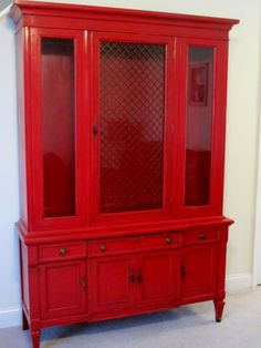 fabulous red hutch painted hutch painted furniture retro vintage