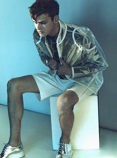 Clear plastic manwear