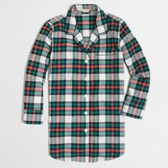 flannel pajama shirt