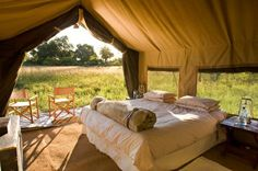 """""""Glamping"""" in Chobe, Botswana. Dream honeymoon destination. tents, glamp, camping, dream, safari, outdoor, national parks, camps, place"""