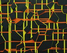 "Saatchi Online Artist: Olly Fathers; Acrylic, 2012, Painting ""Nightlife"" #art #orange"