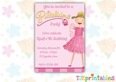 Pinkalicious Birthday Invitation. $8.00, via Etsy.