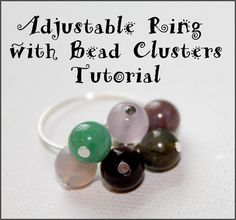 Adjustable Ring with Bead Clusters