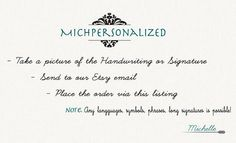 Personalized Signature Necklace  Sterling by MichPersonalized