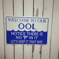 Welcome to our Pool