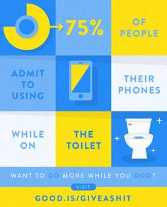 Did you know more people have cell phones than toilets?   Join GOOD and #giveashit at http://www.good.is/giveashit. #GOODHealthMonth