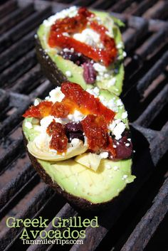 Greek Grilled Avocados - oh my goodness!!!