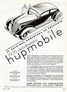 1935 Hupmobile Sedan Ad (Argentina) by aldenjewell, via Flickr