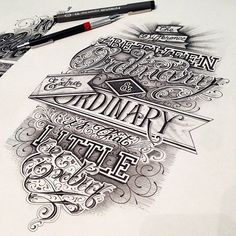 Typography inspiration   #939 it can't be type cause I can't read it, but it's sure purdy...