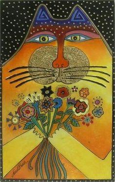 . burch laurel, cat art, folk art, felin, catart, artlaurel burch, laurel burch cats, chat, catlaurel burch