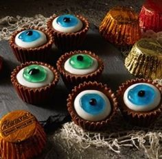 Reese's Peanut Butter Cup Monster Eyes