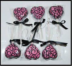 Swirl Heart Valentines Cake Pops