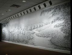 Judith Ann Braun graphite finger drawings