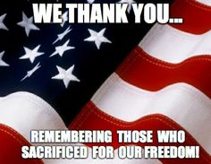 In honor of those who sacrificed for our freedom! #MemorialDay