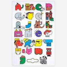Alphabet Print 24x36  by Burlesque Of North America