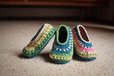 Instant Download  Crochet Pattern  Galilee Slippers by Mamachee, $5.50
