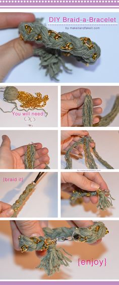 make it & fake it: DIY Braid-a-Bracelet