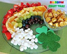 Rainbow Fruit Platter, a great healthy snack option for you St. Patrick's Day party! {Life Love LIz}