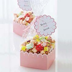 Pretty Pink Scallop Treat  Boxes