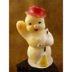 waving snowman with glitter