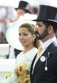 Princess Haya bint Al Hussein and Sheikh Mohammed Bin Rashid Al Maktoum attend Day 2 of Royal Ascot 2014