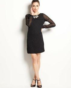 REVEL: Sheer Sleeve Dress