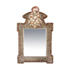 Large Shell Wall Mirror