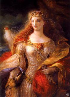 Eleanor of Aquitaine by Kinuko Craft. Nice. \µ/—>X) ☠☠☠