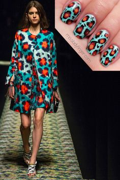 MANICURE MUSE: Kenzo Spring '13 Think of the Kenzo tiger... kenzo spring, kenzo pari, spring 13, fashion prints, style icons, spring collection, nail arts, nails, manicur muse