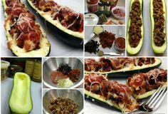 Pizza Stuffed Zucchini Boat....