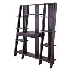 Altra Ladder Bookcase with Desk - Espresso
