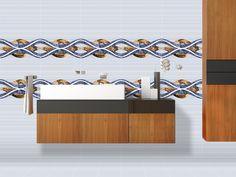ODH Dory Flora Blue HL - #Tiles for #Bathroom