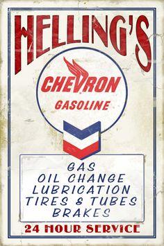 vintag signag, gas station, vintag chevron, vintag gas, vintage signs, station sign, gas chamilo10, servic station