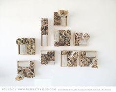 paper decor, book art, paper work, paper project