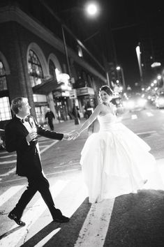 Love this nighttime shot of the bride & groom