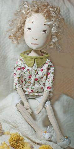 Dorothy handmade textile art doll