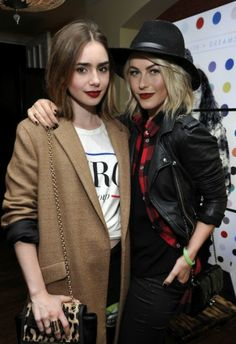 Lily Collins and Julianne Hough
