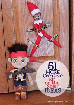 51 MORE Creative Elf on the Shelf Ideas, for those needing ideas #elfontheshelf