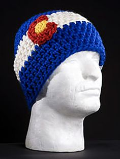 colorado beanie hat crochet pattern | ftg co flag beanie a hand crocheted ftg original accept no imitations ...
