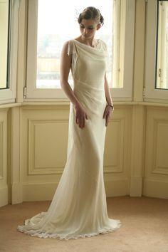 figure flattering wedding gown