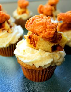 Chicken and Waffles Cupcakes.